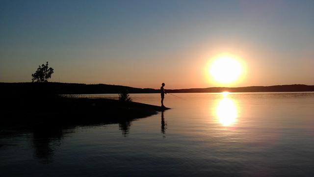 Fiskestund i Åsunden