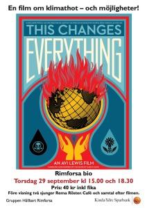 "Affisch till filmen ""This changes everything"""